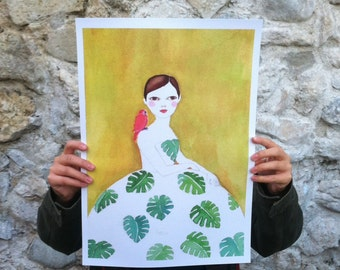 Large print of Monstera girl