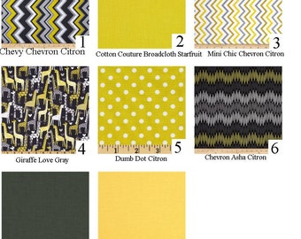 Fabric Selection Listing for Crib Bedding Made From Michael Miller Citron Gray fabric #J..... Not a pre-made item, for fabric selection only