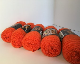 Destash California Coral Yarn SALE Lot 5 Skeins Knitting Crocheting Supplies Craft