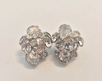 Vintage Eisenberg Ice Rhinestone Earrings STUNNING