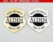SALE Ring Security, Ring Bearer Gift, Ring Bearer Security Badge, Personalized Ring Bearer Badge, Groomsmen Gifts, Wedding Gift