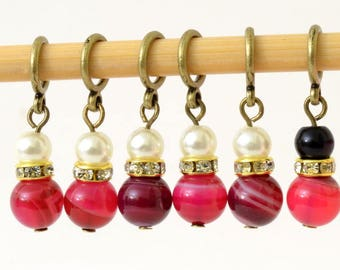 Knitting Place Markers - Stitch Markers - Set of 6
