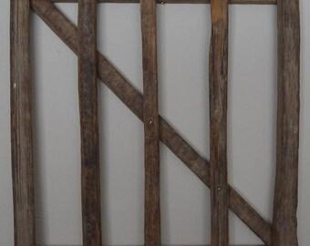 "26"" X 16"" Hand Split Tobacco Lathe Country Decorative Fence"