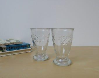 Vintage Nautical Ships Wheel Juice Glasses - Set of 2