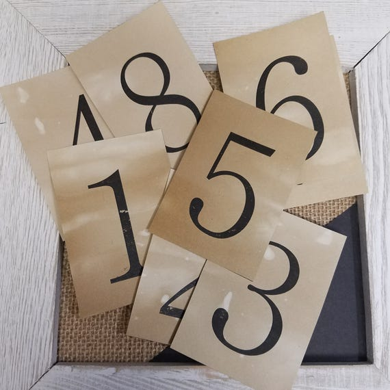 """Table Number card Seat Placement Cards rectangle 2"""" x 3"""""""