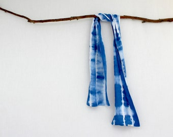 PACIFIC . tie dye scarf . blue . soft cotton . boho bohemian gypsy hippy festival hippie beach summer tribal wild wanderer . australia