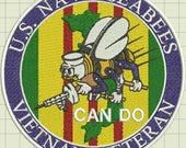 Seabees Vietnam Veteran Patch Embroidery Design (private listing)