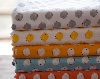 4359 - Chick Cotton Fabric - 62 Inch (Width) x 1/2 Yard (Length)