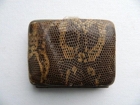 Vintage Snakeskin Coin Purse