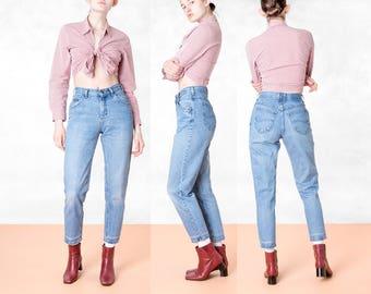 HIGH WAIST LEE jeans vintage women faded Boyfriend Jeans / Size 5 / waist 27 / better Stay together