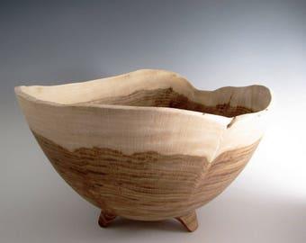 Wood Turned Bowl -Large Chestnut Oak Salad or Fruit  Bowl - Wooden Bowl - Hand Turned Bowl - Anniversary Gift Bowl - Salad Bowl - Fruit Bowl