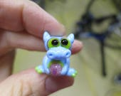 Blue Spring Dragon Lampwork Bead