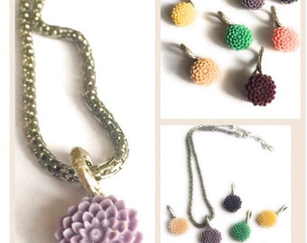 Bridesmaids Gift Flower Necklaces, Weddings, Bridal Jewelries,