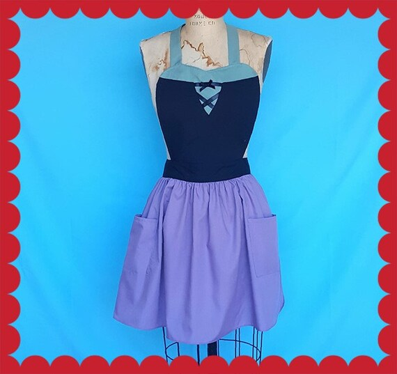 Sleeping Beauty apron, Briar Rose costume apron, AURORA costume apron, Sleeping Beauty  costume apron, womens full costume apron