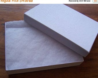 Spring Sale 10% off 20 Pack Cotton Filled White Color Jewelry Gift and Retail Boxes 5.25 X 3.75 X 1 Inch Size