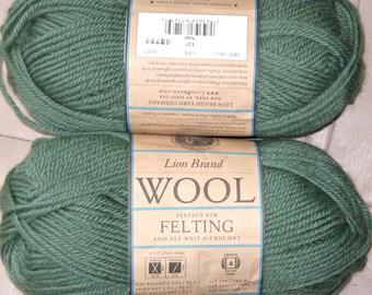 Destash Saturday:  Lion Brand Lion Wool Solids, Great Felting Yarn
