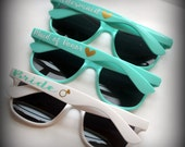 Personalized sunglasses~great for bachelorette parties, bridesmaids, birthday parties, girls weekends, graduations and vacations