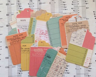 Public Library Tags - Set of 12