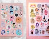 Double Sticker Sheet Deal - Sticker Heaven, A5 sheets