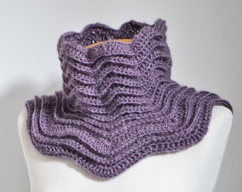 Crochet cowl,  Heather, purple, P503