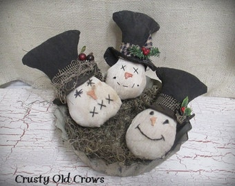 Snowman with Hat Bowl Fillers/Ornaments