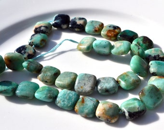 Chrysoprase 10mm Square Stone Beads  8