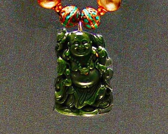 Jade Buddha & Carved Tree Agate