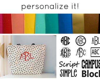Monogram for Oilcloth Bag Binder Cover Checkbook Cover