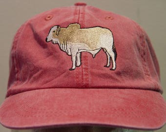 BRAHMAN BULL Brahma Cattle Hat - One Embroidered Men Women Cap - Price Embroidery Apparel - 24 Color Caps Available