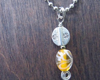 Sunny Yellow - Ball Chain with Pendant
