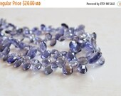 Love You 51% off Sale Iolite Gemstone Briolette Faceted Teardrop Pear Top Drilled 8 to 9mm 20 beads