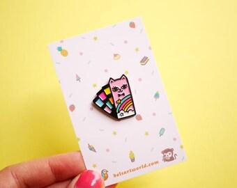 Rainbow Pantone Kitty - Catone Soft Enamel Pin