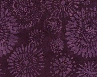 Batik Kaleidoscope Medallion Purple Timeless Treasures Fabric 1 yard
