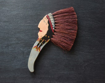 Vintage Horsehair Brush, American Indian, Brush, Clothing Brush, Horsehair Brush, Vintage Brush, Horsehair Clothing Brush, Collectibles
