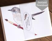 Wordy Bird Notes - Digital - Printable PDF