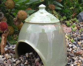 Toad House or Fairy Garden Hut by Jon Whitney Pottery
