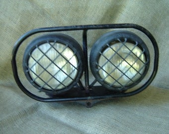 Vintage Industrial Headlights Stanley Headlights Industrial Wall Art Decor 1980s