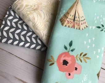 Set of 3 Modern Cotton Burp cloths