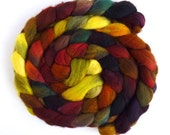Second Quality Braids: Falkland Wool Roving - Hand Dyed Spinning or Felting Fiber Fiber, Set 6, 4 ounces