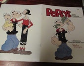 Character Counted Cross Stitch Popeye and Friends Debra Designs DDB1 Patterns Leaflet  Counted Cross Stitch Booklet