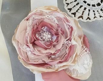 Dusty Rose Bridal Sash Belt, Bridal Accessory,  Bridal Sash ,floral belt, floral sash, Dusty rose Wedding Sash, Dusty rose accessory