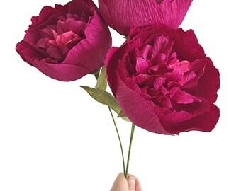 Fluffy Peony: Handmade Crepe Paper Bloom