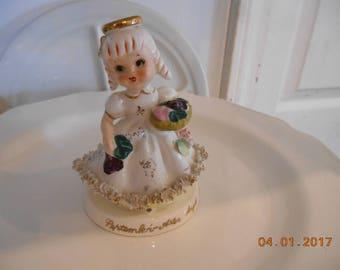 Vintage TMJ September Aster Angel Figurine sold as is