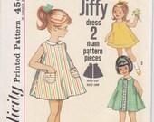 Vintage Pattern Simplicity 5009 Child's one piece Jiffy Dress 60s Size 4