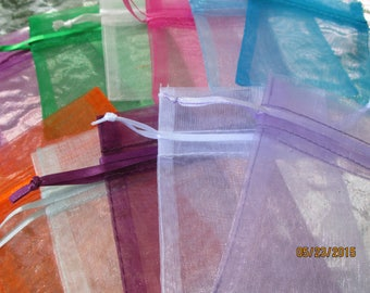 Organza Bags,  10  Favor Bags,  Jewelry Bags, Gift Bags, Showers, Parties, Weddings,