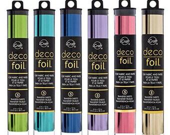 """Deco Foil Transfer Sheet - """"Soft Colors"""" Set - 5 sheets each of 6 different colors"""