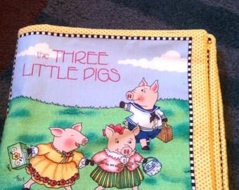 Three Little Pigs fabric book