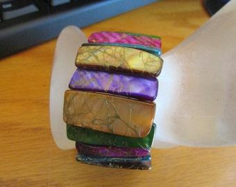 abalone shell pastel bracelet