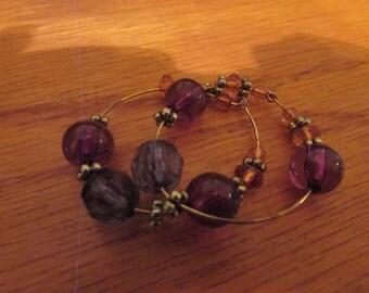 purple bead hoops