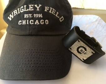 Chicago Cubs Leather Cuff